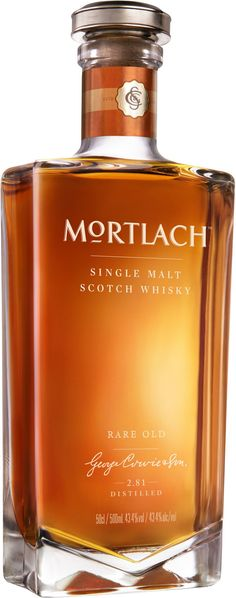 Mortlach Rare Old Single Malt #Scotch #Whisky. Presented in a bottle designed by Laurent Hainaut, this single malt is the first release in the new range of Mortlach single malts. | @Caskers