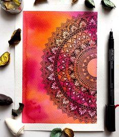 tattoo - mandala - art - design - line - henna - hand - back - sketch - doodle - girl - tat - tats - ink - inked - buddha - spirit - rose - symetric - etnic - inspired - design - sketch Mandala Art Therapy, Mandala Art Lesson, Mandala Artwork, Mandala Painting, Easy Mandala Drawing, Doodle Art Drawing, Cool Art Drawings, Pencil Art Drawings, Zen Doodle
