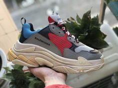 Balenciaga Triple S Trainer Sneaker Shoes Blue red grey 249bef70d