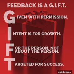 As principals, leaders and teachers, we know that Feedback is a GIFT. Feedback is a GIFT that keeps giving the whole year. If you give it.