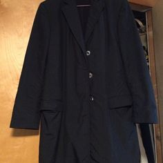 Authentic Gucci Trench Fully lined, half slit in back. Front has 3 mother of Pearl Gucci Buttons , 2 full pockets pads in the shoulders. Gucci Jackets & Coats