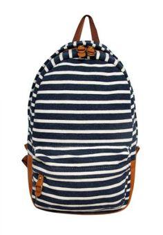 Carrot  Striped Fleece Backpack $54