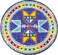 Beaded medallion, Imelda Marie Eaglestar