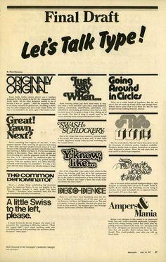 Let's Talk Type!from Metropolis newspaper
