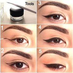 Hey Loves, here is how I apply my winged eyeliner :)  The products and tools I use are MAC Fluidline gel liner in Blacktrack and a Sonia Kas...