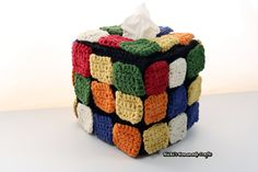 I am so excited about my new pattern creation. This Rubik's Cube pattern is unique because you can rearrange the colored square titles any way you like as most other patterns make you pick th…