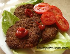 Fuhrman's Amazing Bean Burgers. My quest for the perfect veggie burger has been achieved. Fuhrman's burgers: Whole Food Recipes, Diet Recipes, Vegetarian Recipes, Cooking Recipes, Healthy Recipes, Budget Cooking, Vegetarian Cooking, Plant Based Eating, Plant Based Diet