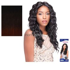 Custom Lace Wig Loose Deep - Color DXT99/BG - Synthetic (Curling Iron Safe) Stocking Cap Custom Lace Wig - Closed Invisible Part