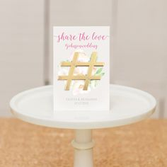 Gold Hashtag Bottle Opener Wedding Favor - Shop on WeddingWire! Candle Wedding Favors, Wedding Favor Tags, Credit Card Bottle Opener, Inexpensive Wedding Favors, Wedding Welcome Bags, The Wedding Date, Share The Love, Party Gifts, That Way
