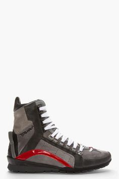 DSQUARED2 GREY SUEDE FAMILY 551 HIGH-TOP SNEAKERS - http://africanluxurymag.com/shop-item/dsquared2-grey-suede-family-551-high-top-sneakers/