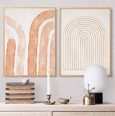 Home Decoration Ideas Videos .Home Decoration Ideas Videos Wall Art Sets, Wall Art Decor, Cuadros Diy, Wabi Sabi, Home Decor Bedroom, Printable Wall Art, Gallery Wall, Rainbow Wall, Rainbow Nursery