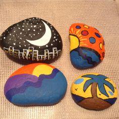 Primeras piedras pintadas.