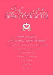'happily ever after' wedding invitation