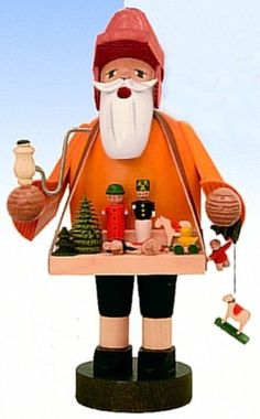 KWO Toy Vendor German Christmas Incense Smoker Handcrafted in Erzgebirge Germany #KWO