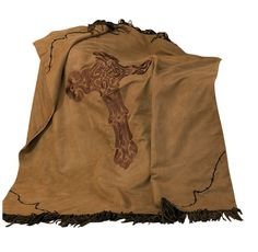 Cross Barbwire Faux Suede Throw