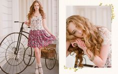 Spring, Enchantment, floral dress, lace // ruche
