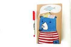 MADE TO ORDER Quaderno Moleskine orso marinaio di La douceur du miel  su DaWanda.com