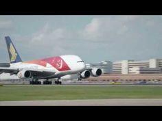 Video Airbus A380 im Tiefflug über Singapur | traveLink.