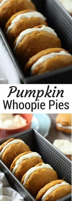 Pumpkin Whoopie Pies | easy Thanksgiving dessert recipe | traditional pumpkin whoopie pies | cream cheese frosted pumpkin whoopie pies.
