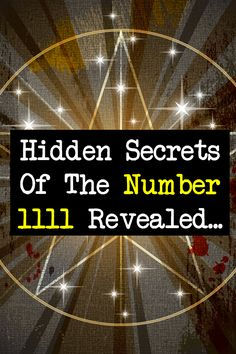 Numerology secrets of the number 1111... http://numerologysecrets.net/numerology-1111-meaning/