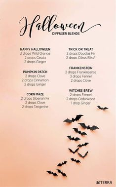 Fall Essential Oils, Essential Oil Diffuser Blends, Essential Oil Uses, Doterra Diffuser, Doterra Oils, Doterra Blends, Halloween Desserts, Happy Halloween, Halloween Scene
