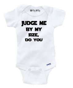 STAR WARS  Judge Me By My Size Do You  YODA  Funny  by WittyBitty, $10.00
