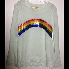Wildfox Sweaters - Wildfox rainbow sequin knit sweater Sz S NWT