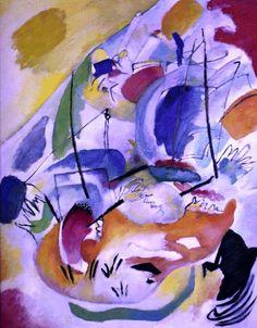 'Improvisation 31 (Sea Battle)', huile de Wassily Kandinsky (1866-1944, Russia)