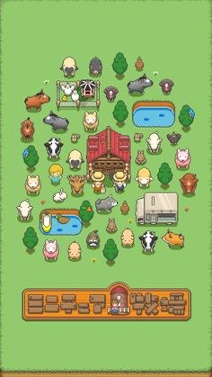 【Make it! Miniature ranch] Pre-registration begins with fascinating ranch game with dot picture graphics! - Smaho Game CH
