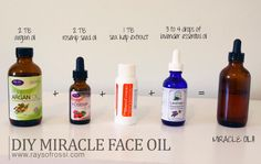 MY MIRACLE FACE OIL (HOMEMADE!) DIY Face Oil Moisturizer