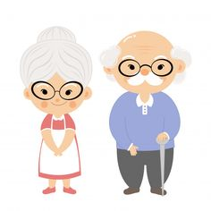 Couple elderly with smile face. Cartoon Grandma, Bakery Logo Design, Cute Couple Cartoon, Couple Illustration, Cartoon Sketches, Simple Doodles, Cartoon Faces, Smile Face, Easy Drawings