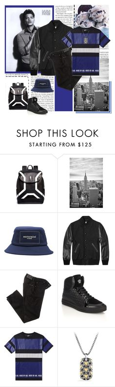 """""""Bruno Mars"""" by madina9 ❤ liked on Polyvore featuring Neil Barrett, RHYTHM, Mastermind, Golden Bear, 7 For All Mankind, Versace, Hood by Air, David Yurman, mens and men"""
