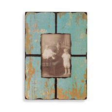 Barnwood Distressed Wood 5' x 7' Frame - Turquoise - Bed Bath & Beyond