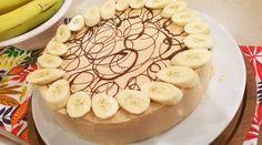 Cheesecake de banana, coco y dulce de leche
