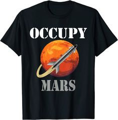 Occupy Mars Space Rocket Interstellar Rocket Starship SCI-FI T-Shirt: Amazon.de: Bekleidung Interstellar, Amazon T Shirt, Colonising Mars, Mars Space, Space Rocket, Cool, Science And Technology, Sci Fi, This Or That Questions