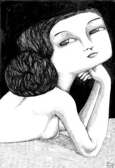 There's something so special and mysterious about these illustrated ladies by Switzerland based artist Hélia Aluai. Old Portraits, Woman Drawing, Iconic Women, Jewellery Display, Black Women, Whimsical, Illustration Art, Sculpture, Fine Art