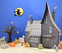 3D Haunted House Scene by Annie Williams - made with my Silhouette CAMEO