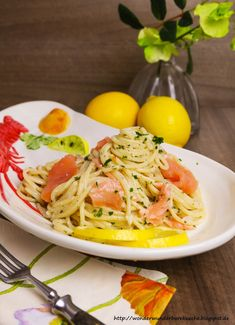 Wonder Wunderbare Küche: Spaghetti mit Räucherlachs in Sahne-Meerrettich-So...