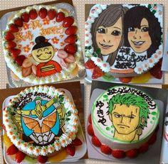 イラストデコレーションケーキ 5号【バースデーケーキ 誕生日ケーキ デコ いちご   バースディ】