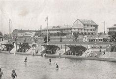 Ocean Beach, showing Beach Hotel, Durban. ca. 1920