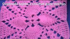 Muestra tejida a crochet # 25 para colchitas de bebe o cubrecamas - YouTube