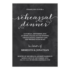 Chalkboard Rehearsal Dinner Announcement