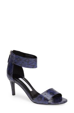 Diane von Furstenberg 'Kinder' Genuine Snakeskin Sandal (Women) available at #Nordstrom