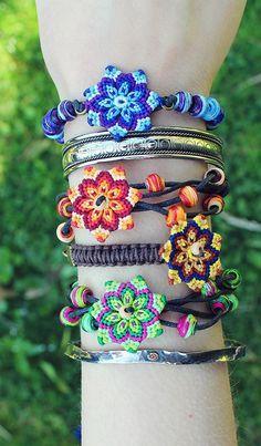 macrame boho bracelets