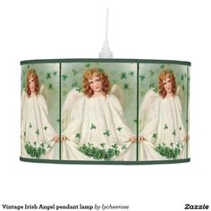 Vintage Irish Angel pendant lamp