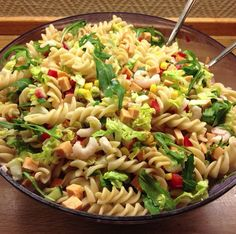 Pasta salad with a seafood twist