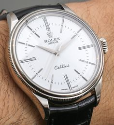 """Rolex Cellini Time: Return Of The Crown's Dress Watch - see some initial photos and get the story on aBlogtoWatch.com """"When we think about Rolex, we think about sport models like Submariner, or dress models like the Datejust and Day-Date, but it's important to remember that Rolex has a range of luxury dress watches in its Cellini collection...At Baselworld 2014, Rolex has just announced three new Cellini models, which were hinted at earlier this week..."""" #ABTWBaselworld2014"""
