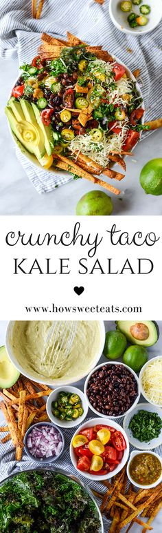 Crunchy Taco Kale Salad I howsweeteats.com @howsweeteats