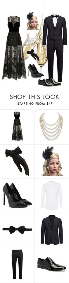 """Untitled #9"" by nadia-arini-haque ❤ liked on Polyvore featuring Elie Saab, DaVonna, Black, Yves Saint Laurent, Topman, Dolce&Gabbana, Joseph, Marni and Calvin Klein"