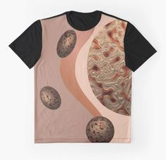 RUSTIC ABSTRACT #2. Graphic T-Shirt Designed by sana90 Rustic Abstract #2. #rust #copper #gold #patterns #textures #shapes #creativity #sana90redbubble #afrikartworx Female Models, Vivid Colors, Shirt Designs, Creativity, Copper, Women's Fashion, Rustic, Shapes, Texture